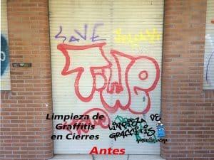 Limpieza de Graffitis en Cierres y Puertas