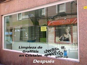 Limpieza de Graffitis en Cristales
