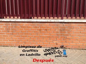 Limpieza de Graffitis en Ladrillo
