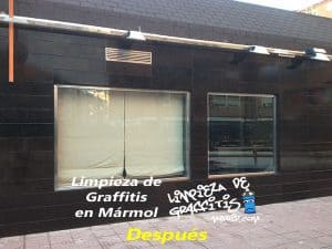 Limpieza de Graffitis en Mármol