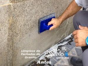 Limpieza de Graffitis en Granito
